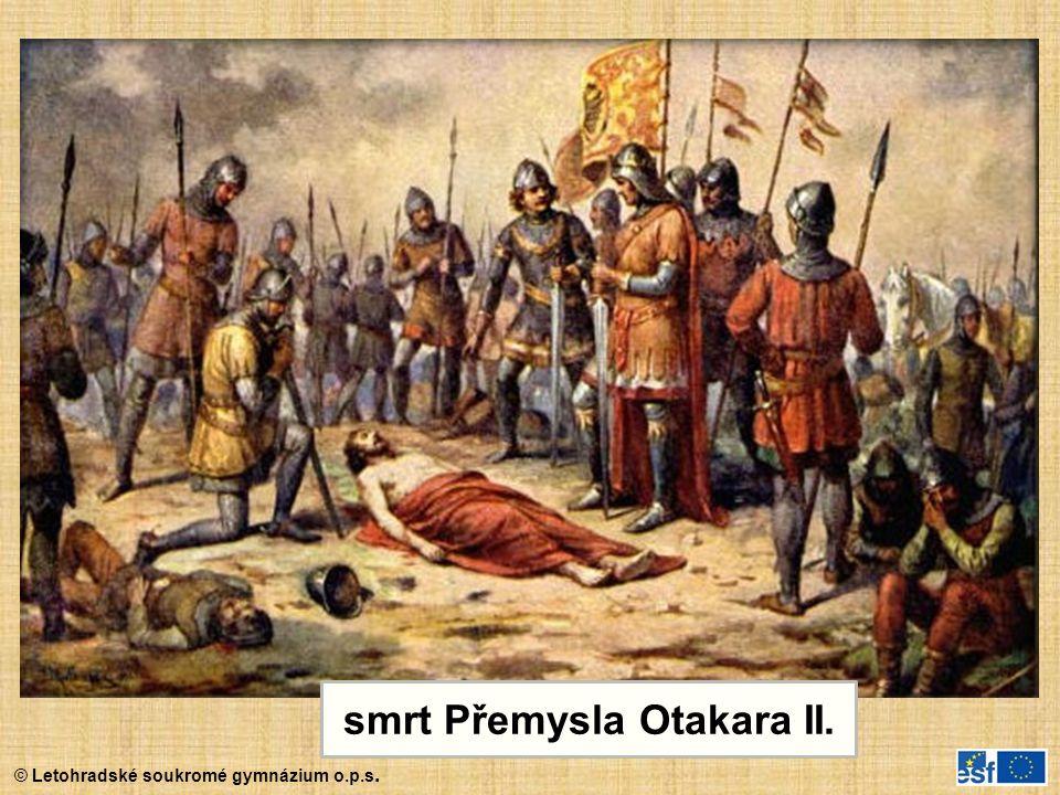 smrt Přemysla Otakara II.