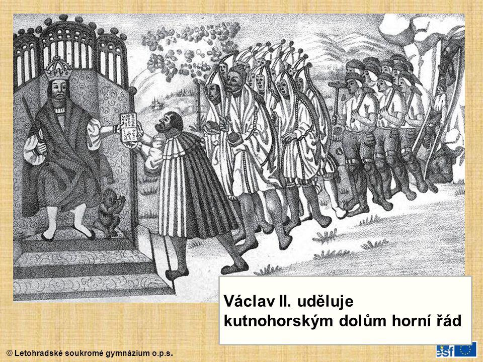 Václav II. uděluje kutnohorským dolům horní řád