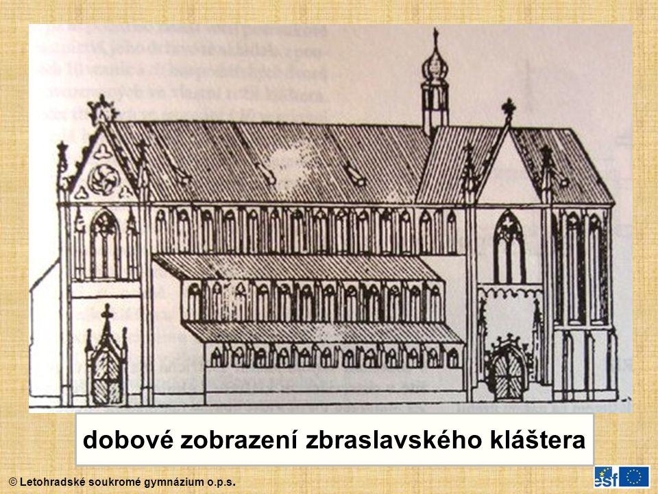 dobové zobrazení zbraslavského kláštera