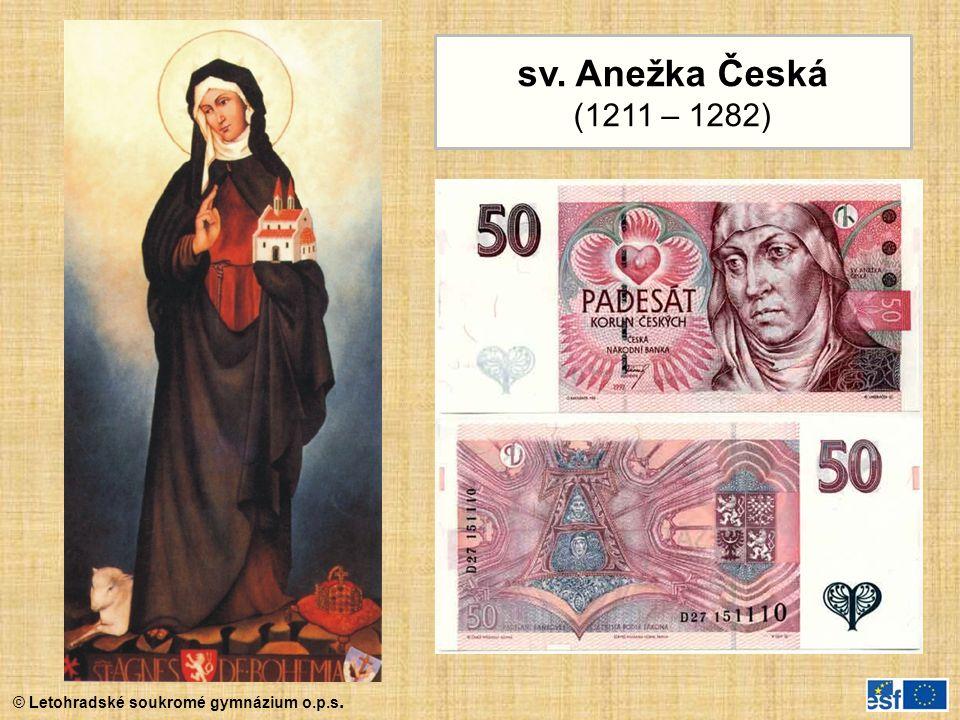 sv. Anežka Česká (1211 – 1282)
