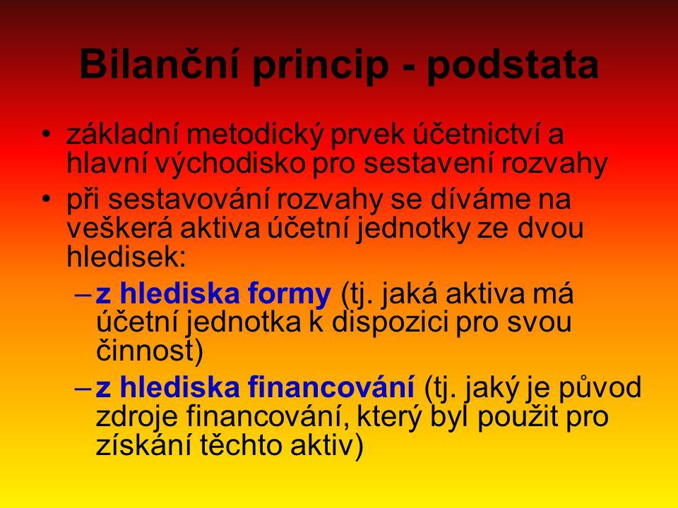 Bilanční princip - podstata