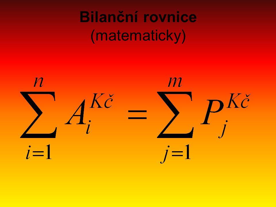 Bilanční rovnice (matematicky)