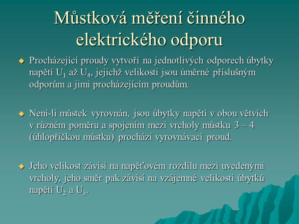Můstková měření činného elektrického odporu