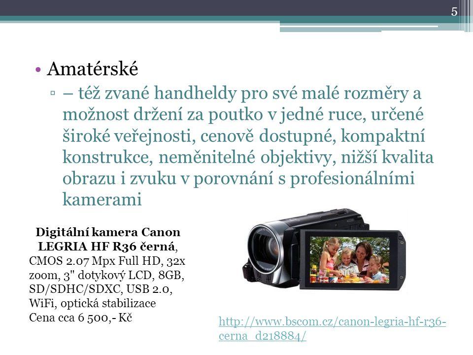 Digitální kamera Canon LEGRIA HF R36 černá,