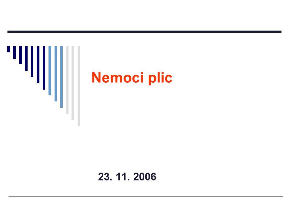 Nemoci plic 23. 11. 2006