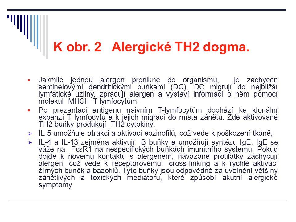 K obr. 2 Alergické TH2 dogma.