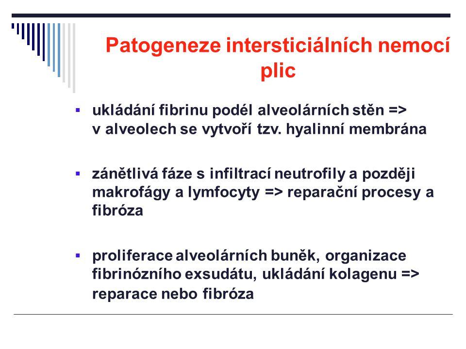 Patogeneze intersticiálních nemocí plic