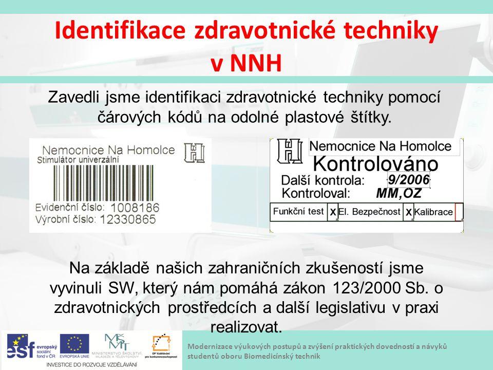 Identifikace zdravotnické techniky v NNH