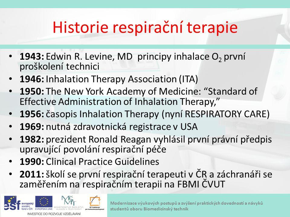 Historie respirační terapie