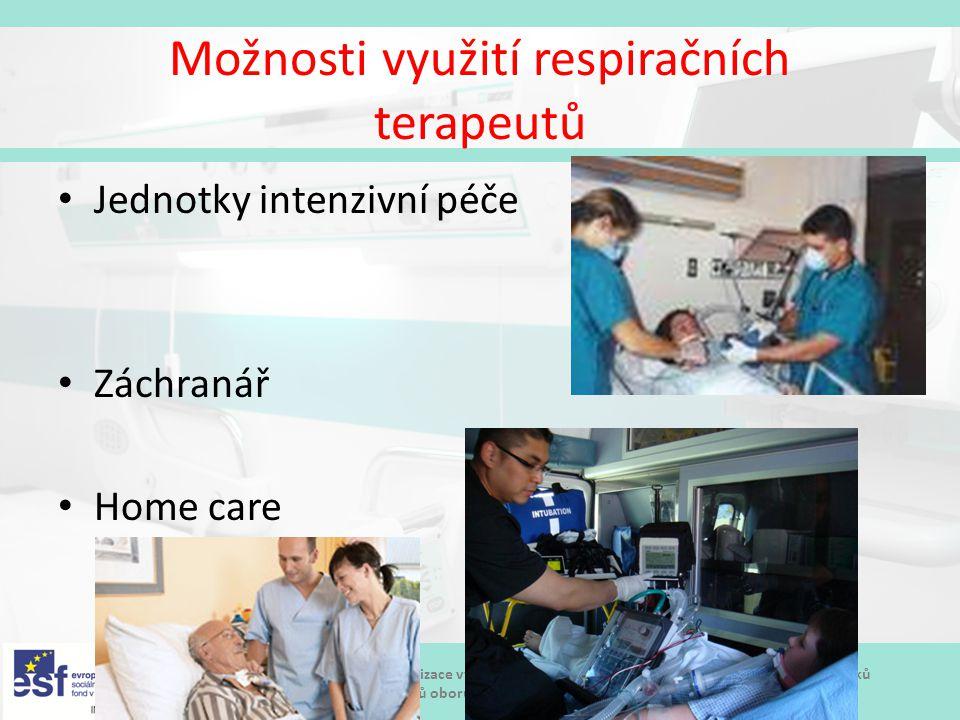 Možnosti využití respiračních terapeutů