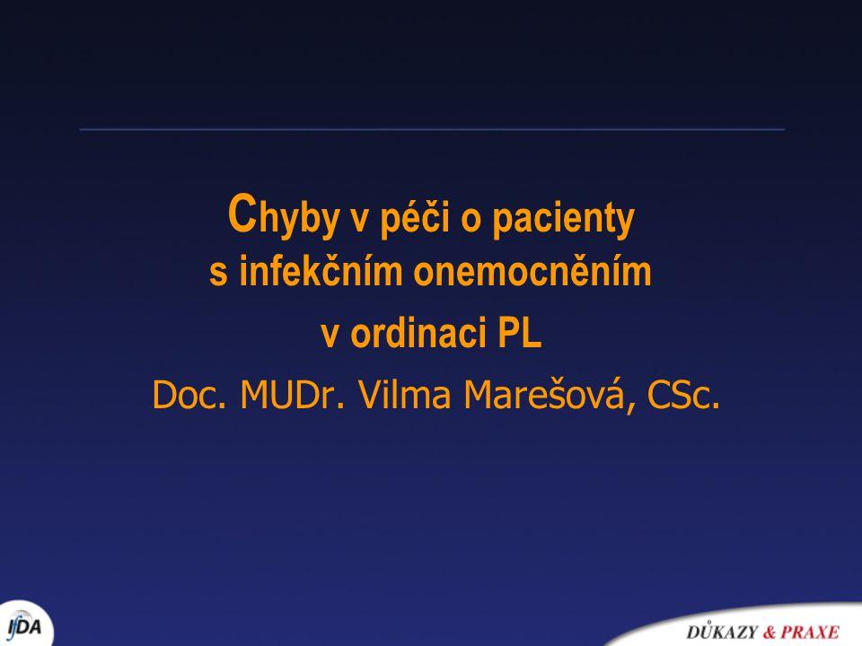 Chyby v péči o pacienty s infekčním onemocněním v ordinaci PL