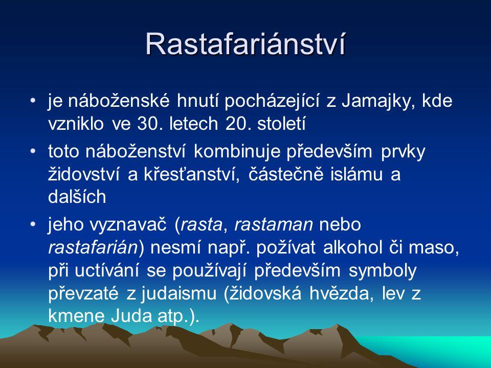 Rastafariánství je náboženské hnutí pocházející z Jamajky, kde vzniklo ve 30. letech 20. století.