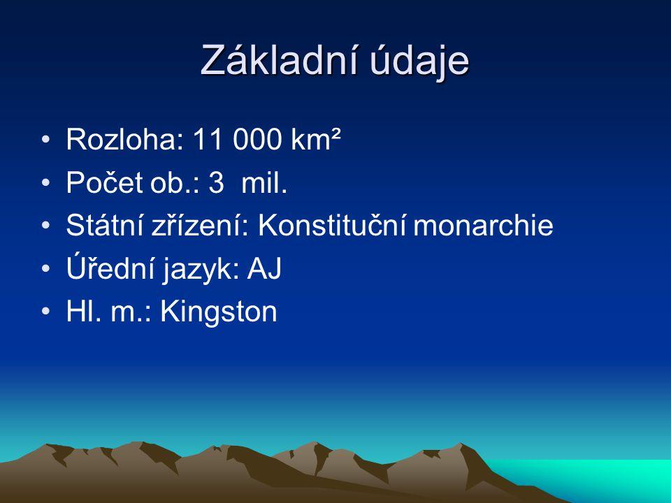 Základní údaje Rozloha: 11 000 km² Počet ob.: 3 mil.