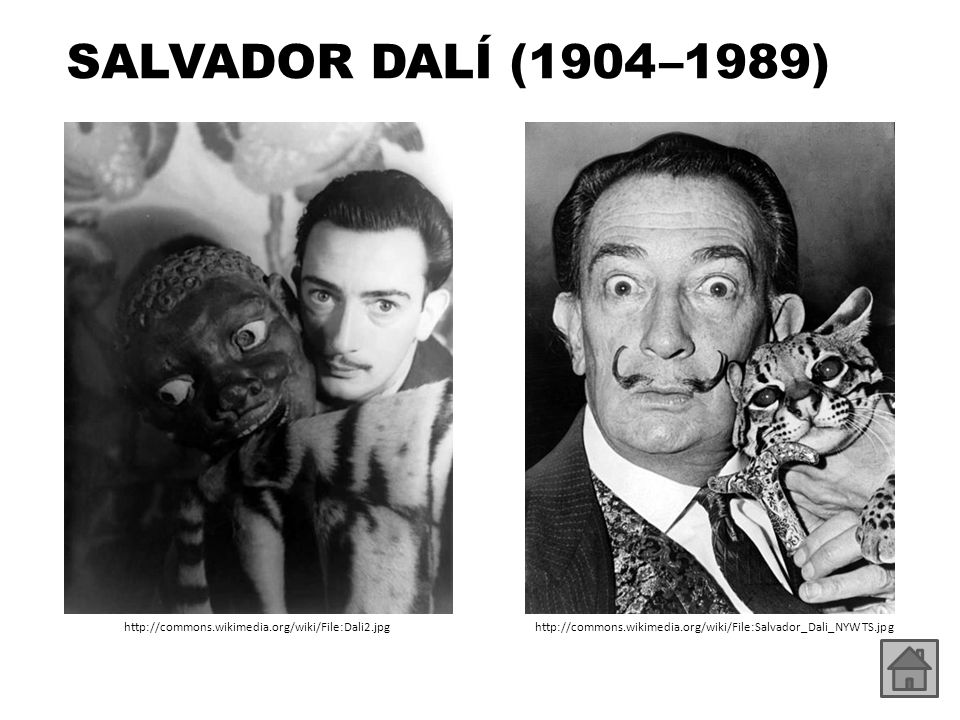 SALVADOR DALÍ (1904 –1989) http://commons.wikimedia.org/wiki/File:Dali2.jpg.