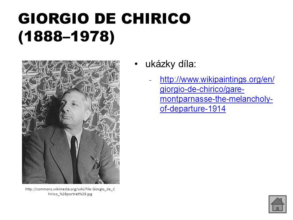 GIORGIO DE CHIRICO (1888–1978) ukázky díla: