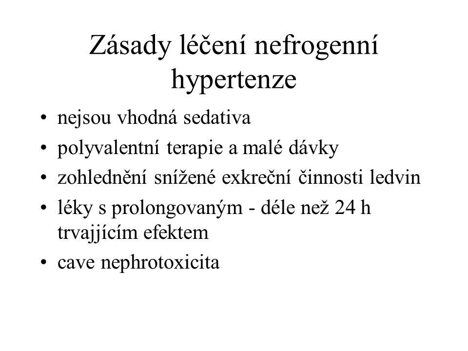 Zásady léčení nefrogenní hypertenze