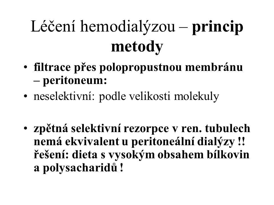 Léčení hemodialýzou – princip metody