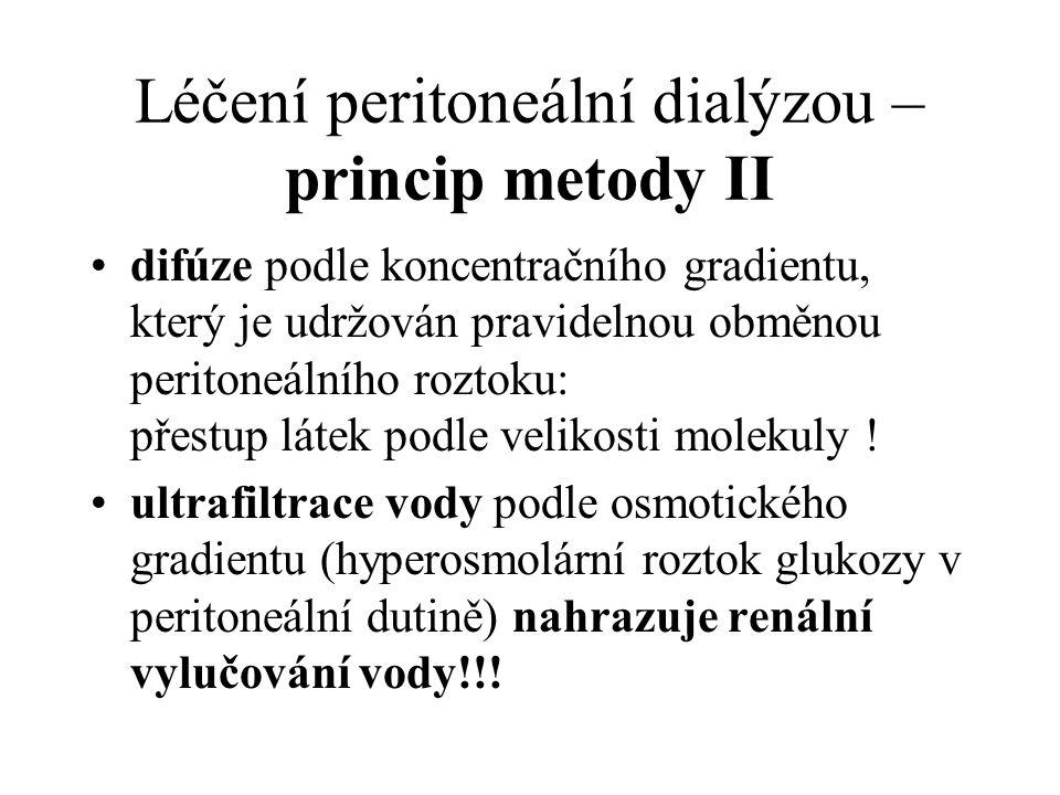 Léčení peritoneální dialýzou – princip metody II