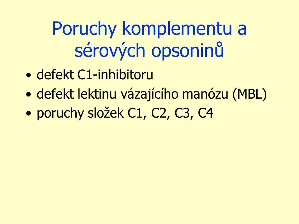 Poruchy komplementu a sérových opsoninů