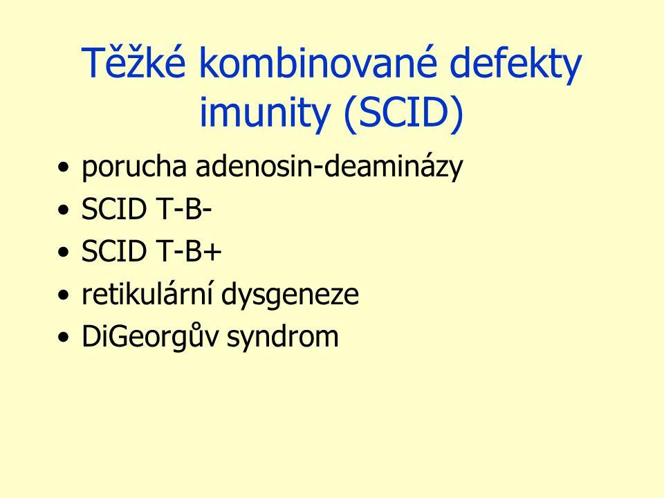 Těžké kombinované defekty imunity (SCID)
