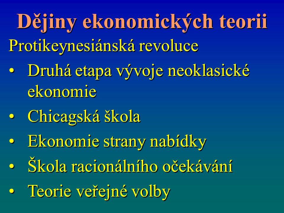 Dějiny ekonomických teorii