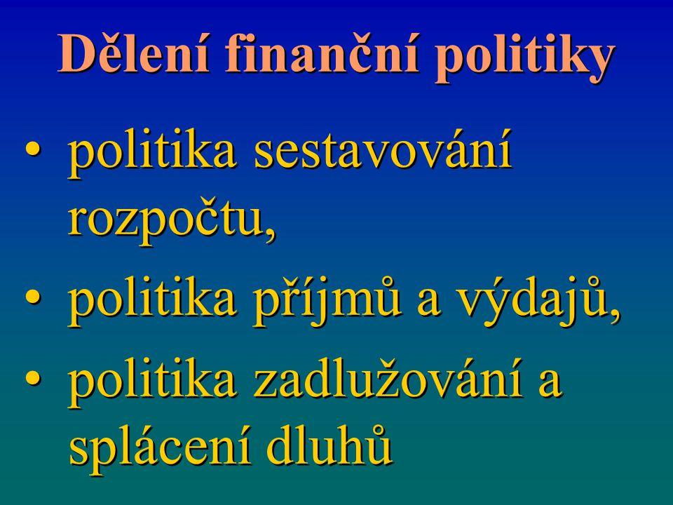 Dělení finanční politiky