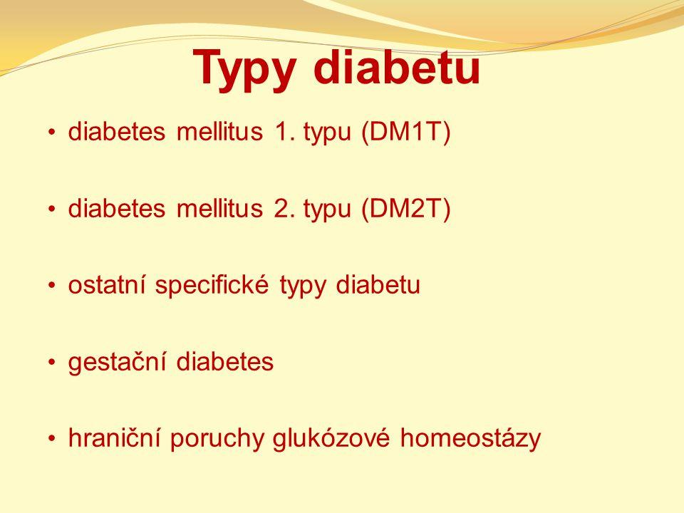 Typy diabetu diabetes mellitus 1. typu (DM1T)