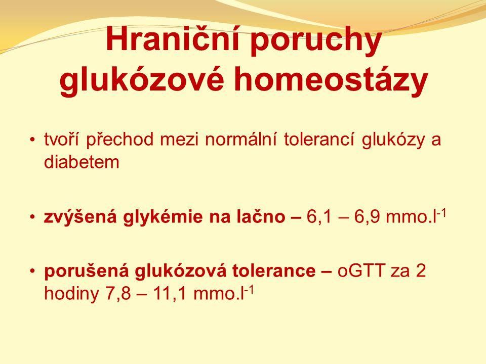 Hraniční poruchy glukózové homeostázy