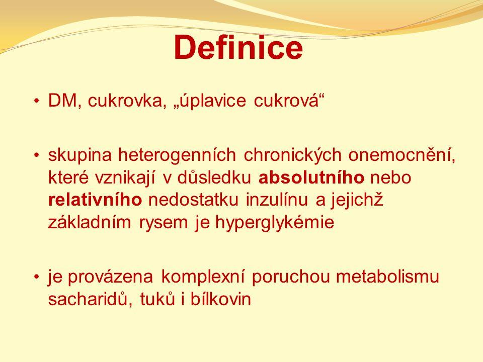 "Definice DM, cukrovka, ""úplavice cukrová"