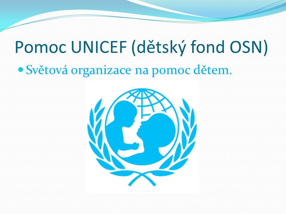 Pomoc UNICEF (dětský fond OSN)