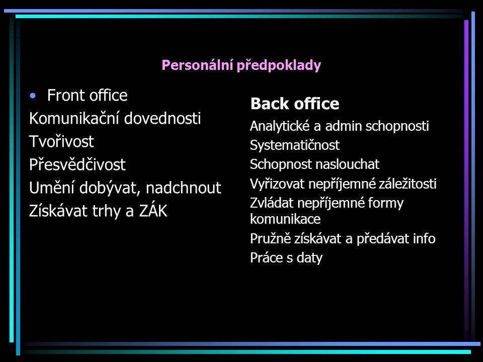 Personální předpoklady