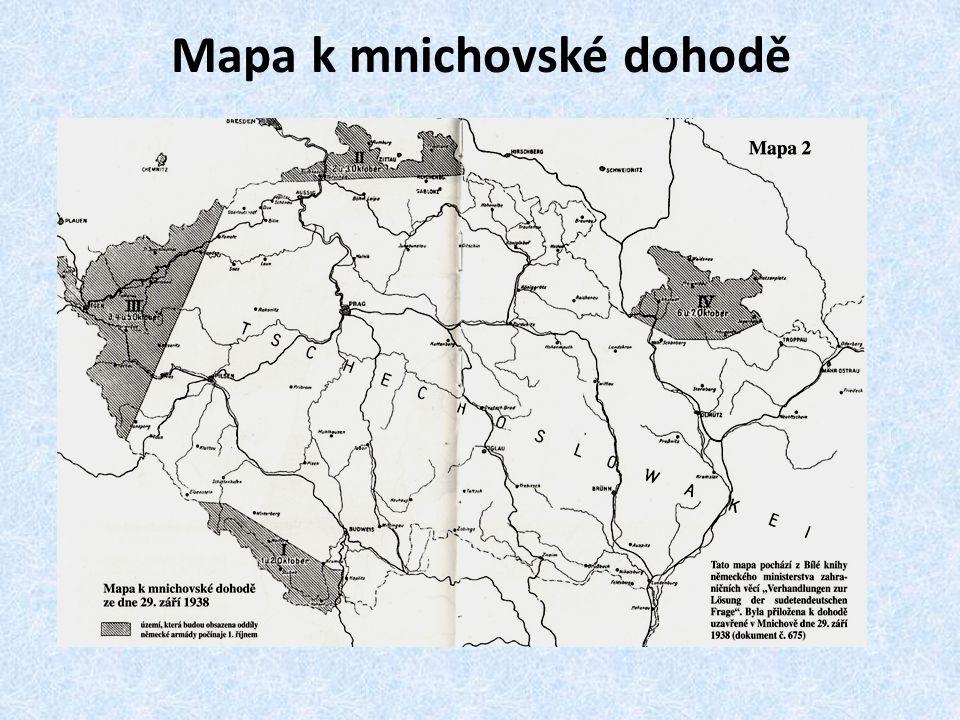 Mapa k mnichovské dohodě