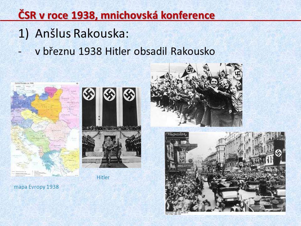 Anšlus Rakouska: ČSR v roce 1938, mnichovská konference
