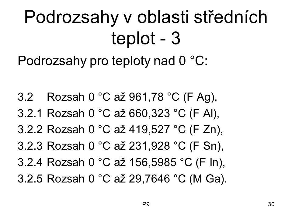 Podrozsahy v oblasti středních teplot - 3
