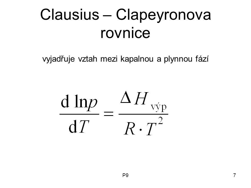 Clausius – Clapeyronova rovnice