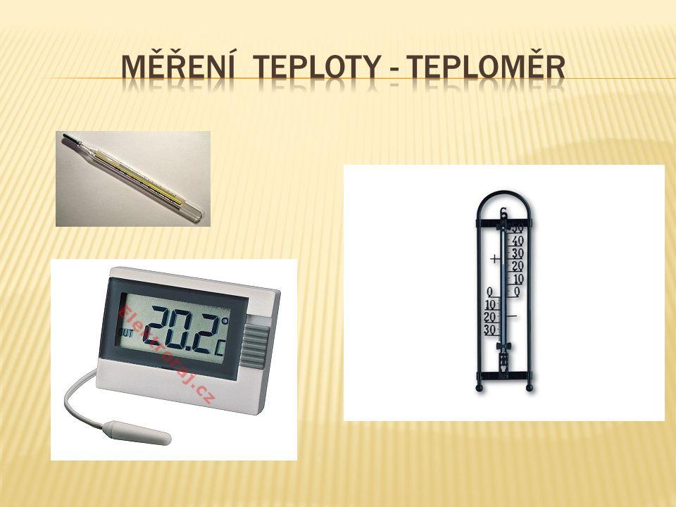 Měření teploty - teploměr