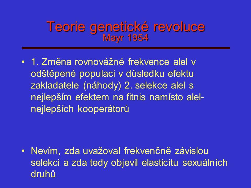 Teorie genetické revoluce Mayr 1954