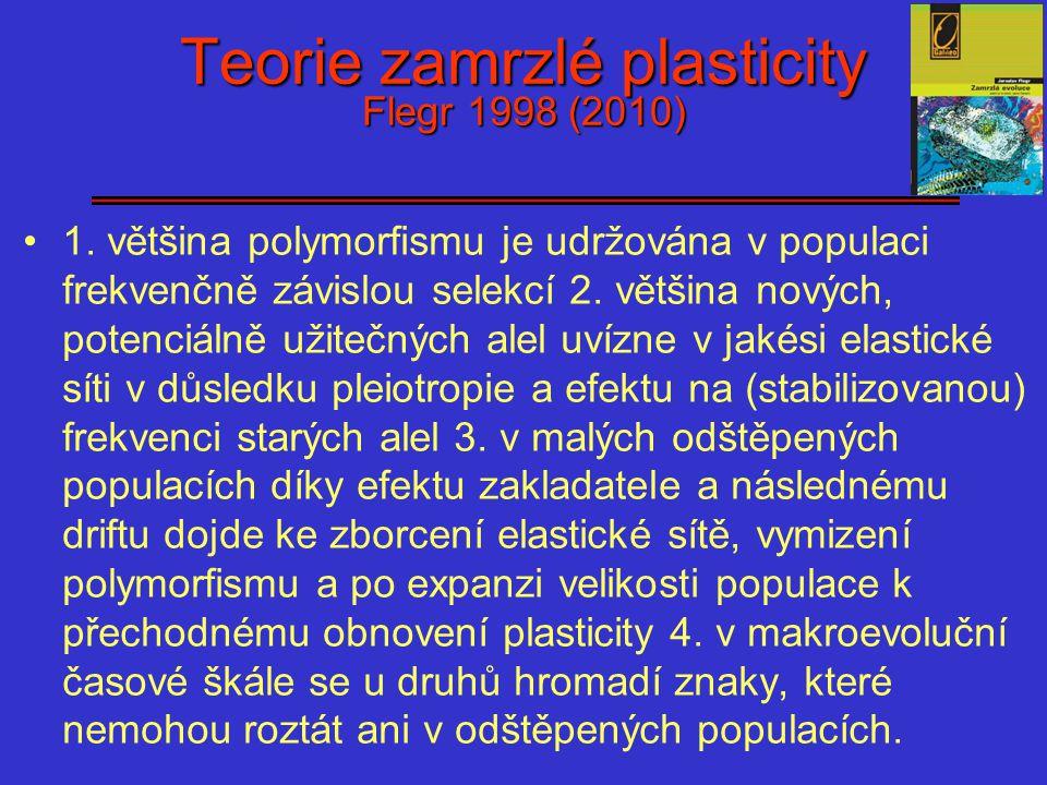 Teorie zamrzlé plasticity Flegr 1998 (2010)