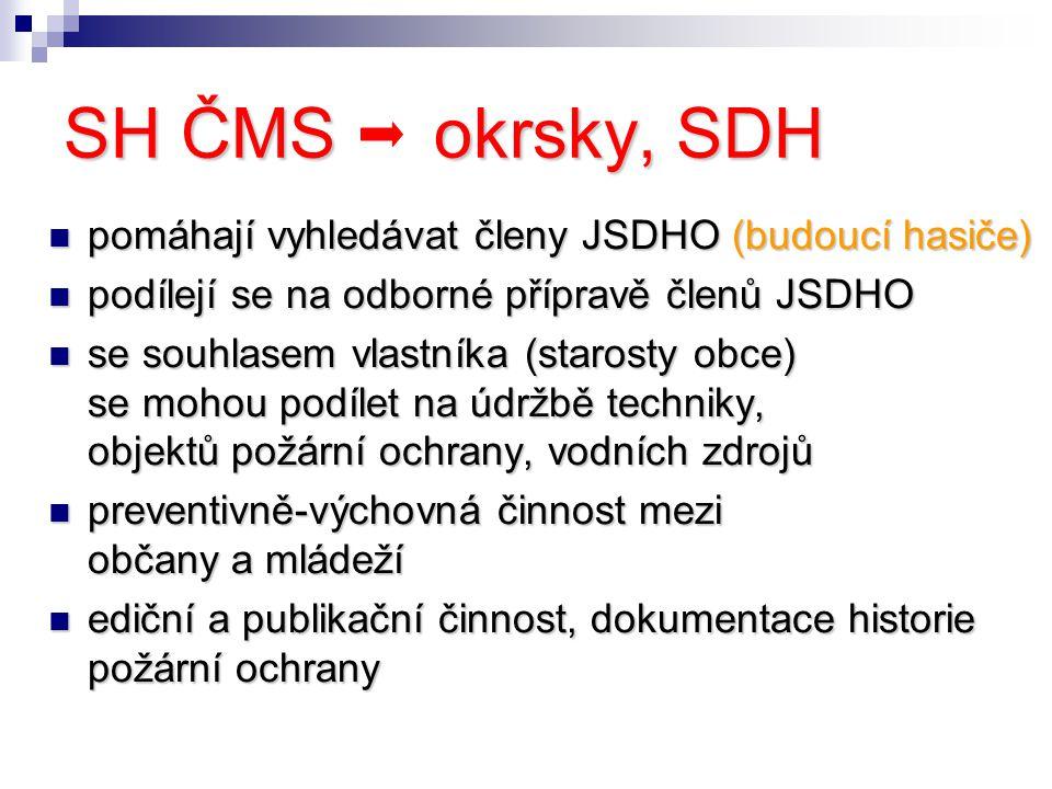 SH ČMS okrsky, SDH pomáhají vyhledávat členy JSDHO (budoucí hasiče)