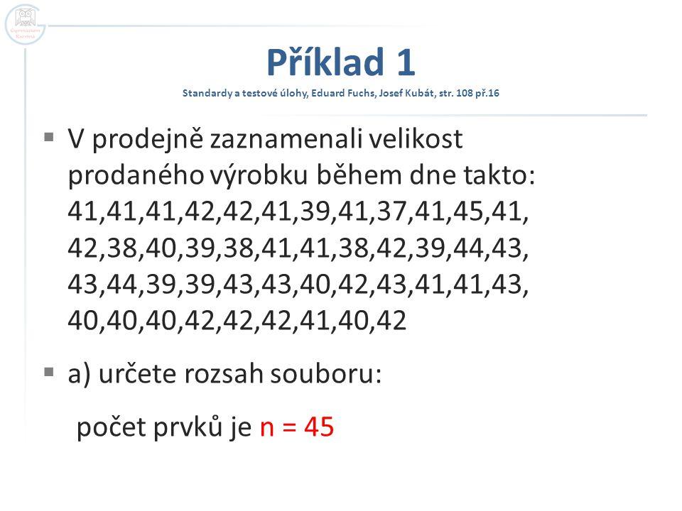 Příklad 1 Standardy a testové úlohy, Eduard Fuchs, Josef Kubát, str