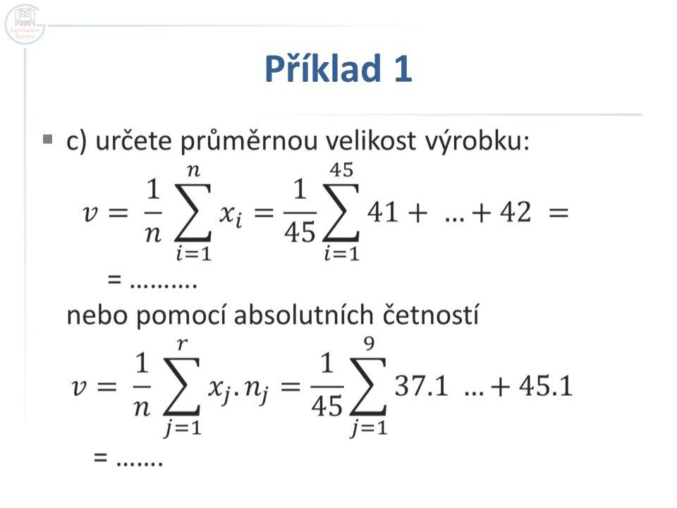 Příklad 1