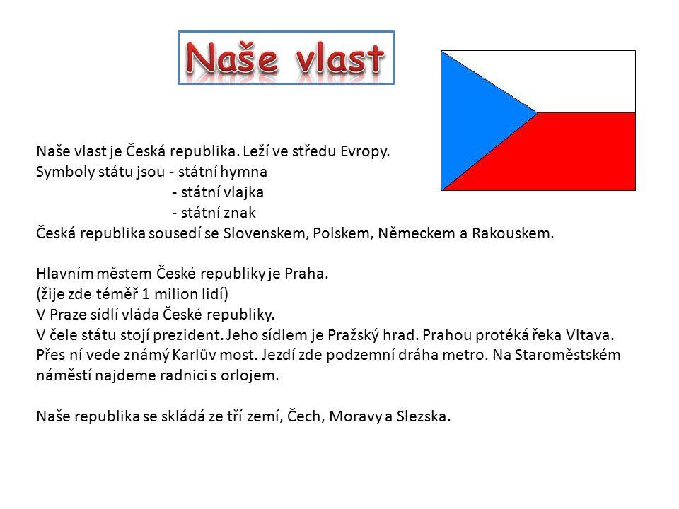 Naše vlast Naše vlast je Česká republika. Leží ve středu Evropy.