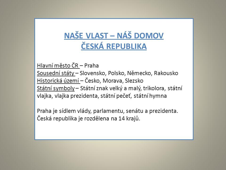 NAŠE VLAST – NÁŠ DOMOV ČESKÁ REPUBLIKA