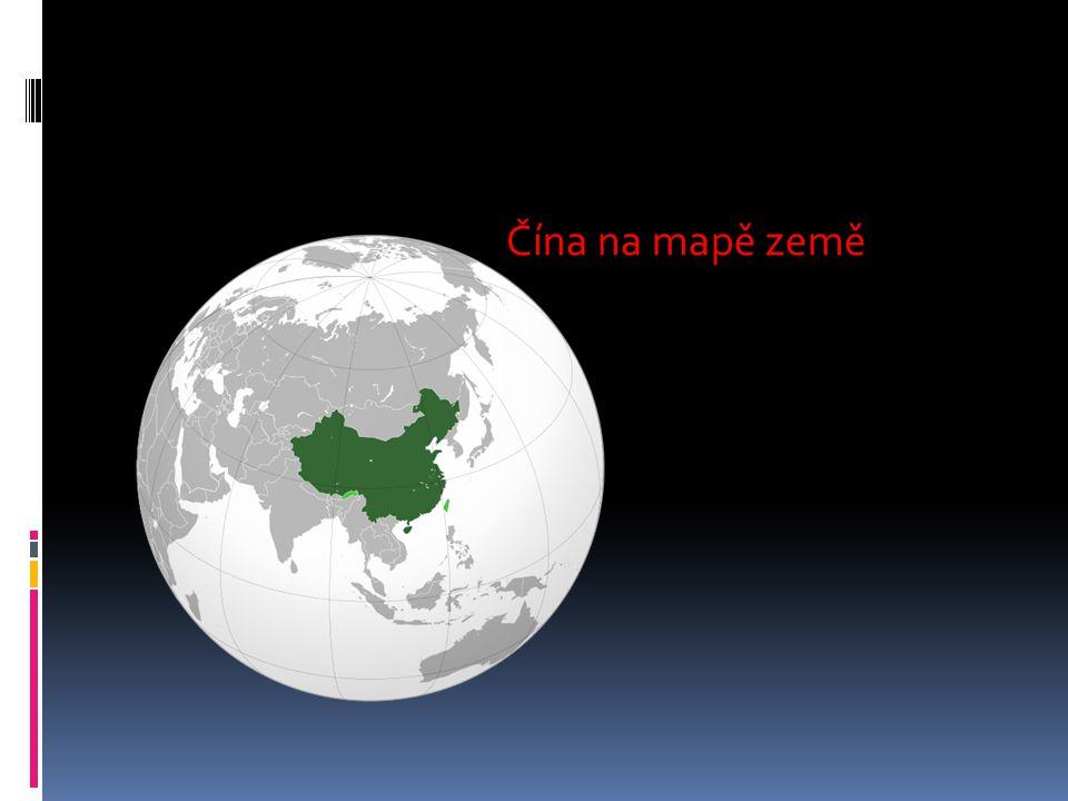 Čína na mapě země