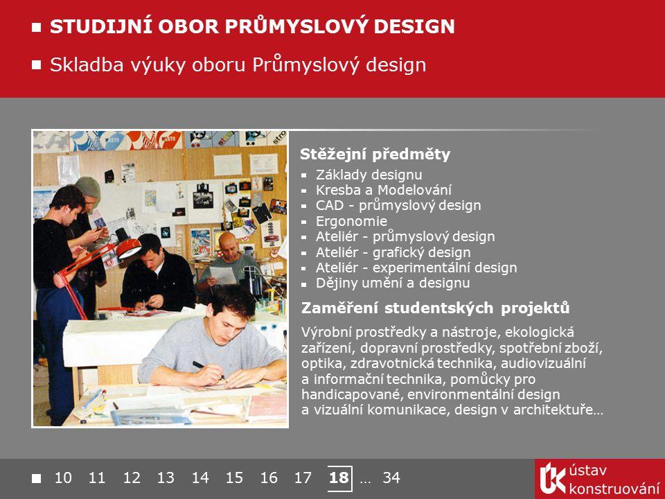 STUDIJNÍ OBOR PRŮMYSLOVÝ DESIGN
