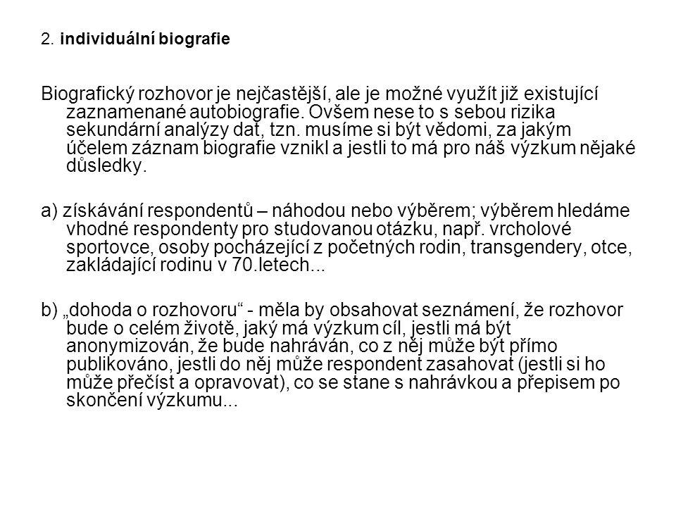 2. individuální biografie