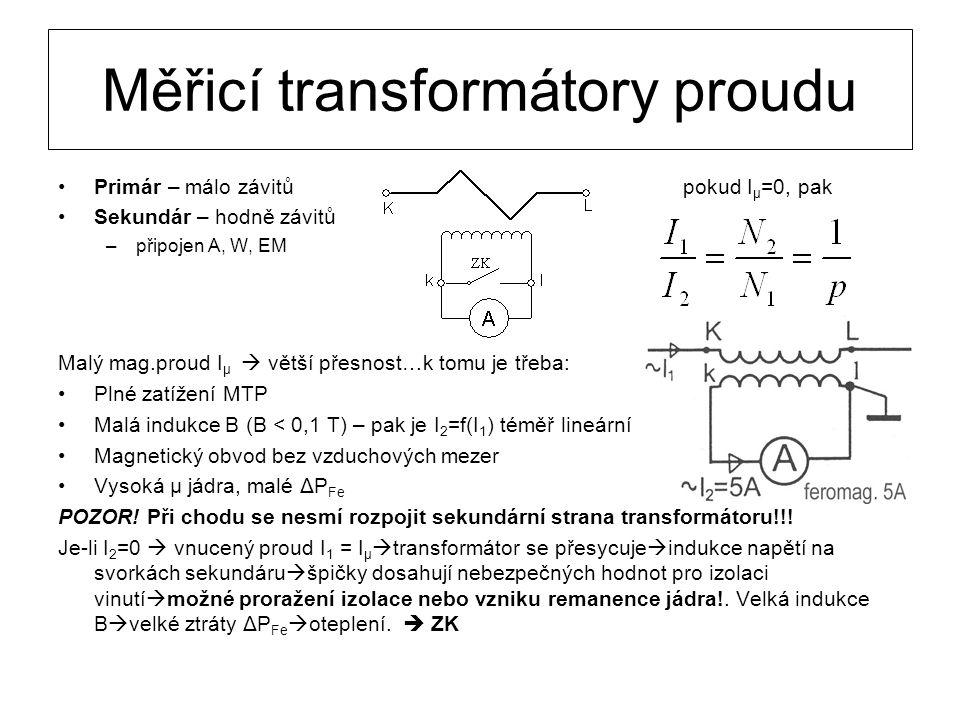 Měřicí transformátory proudu