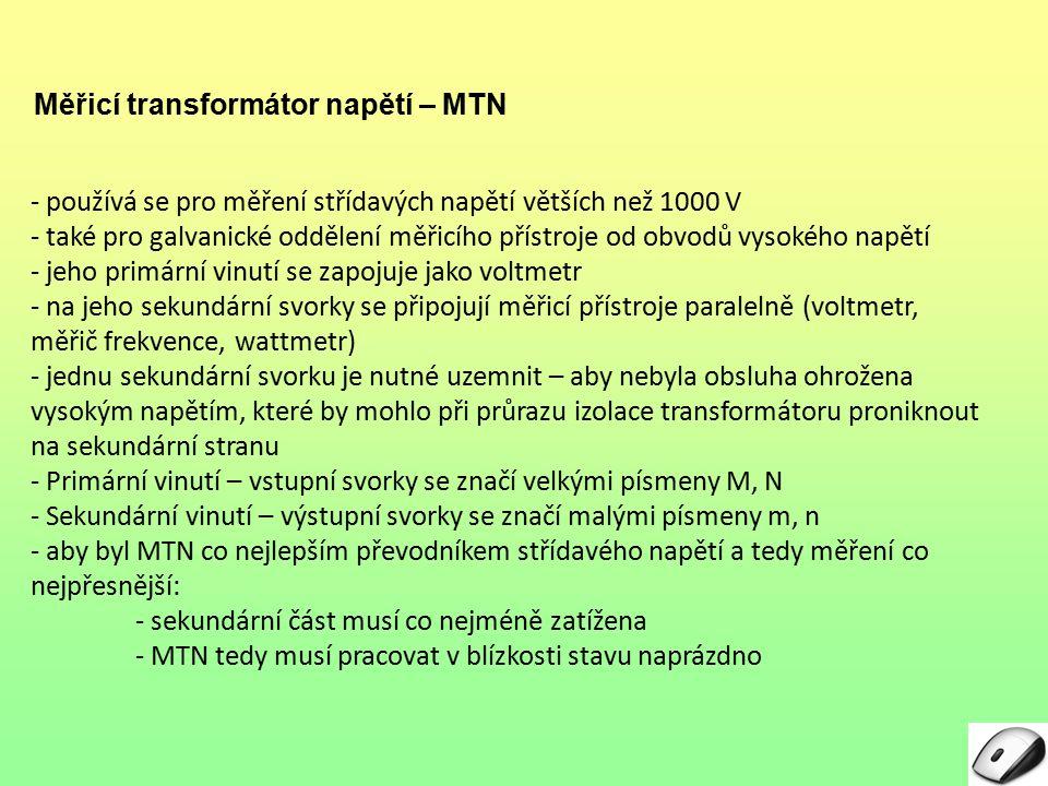Měřicí transformátor napětí – MTN