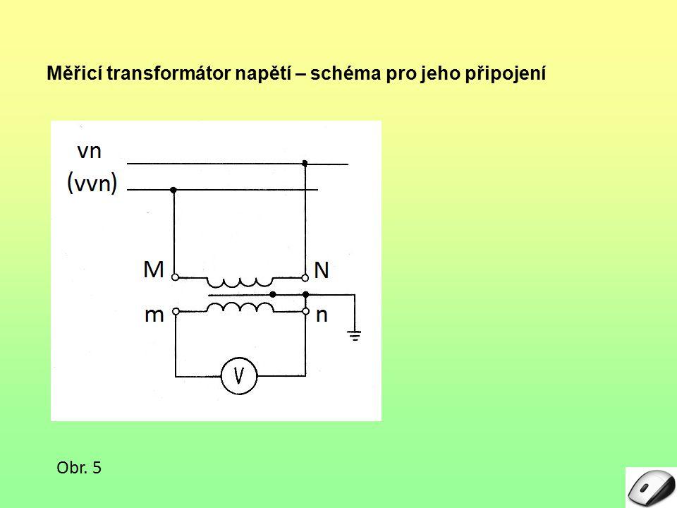 Měřicí transformátor napětí – schéma pro jeho připojení