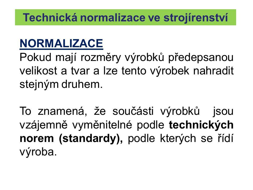 Technická normalizace ve strojírenství